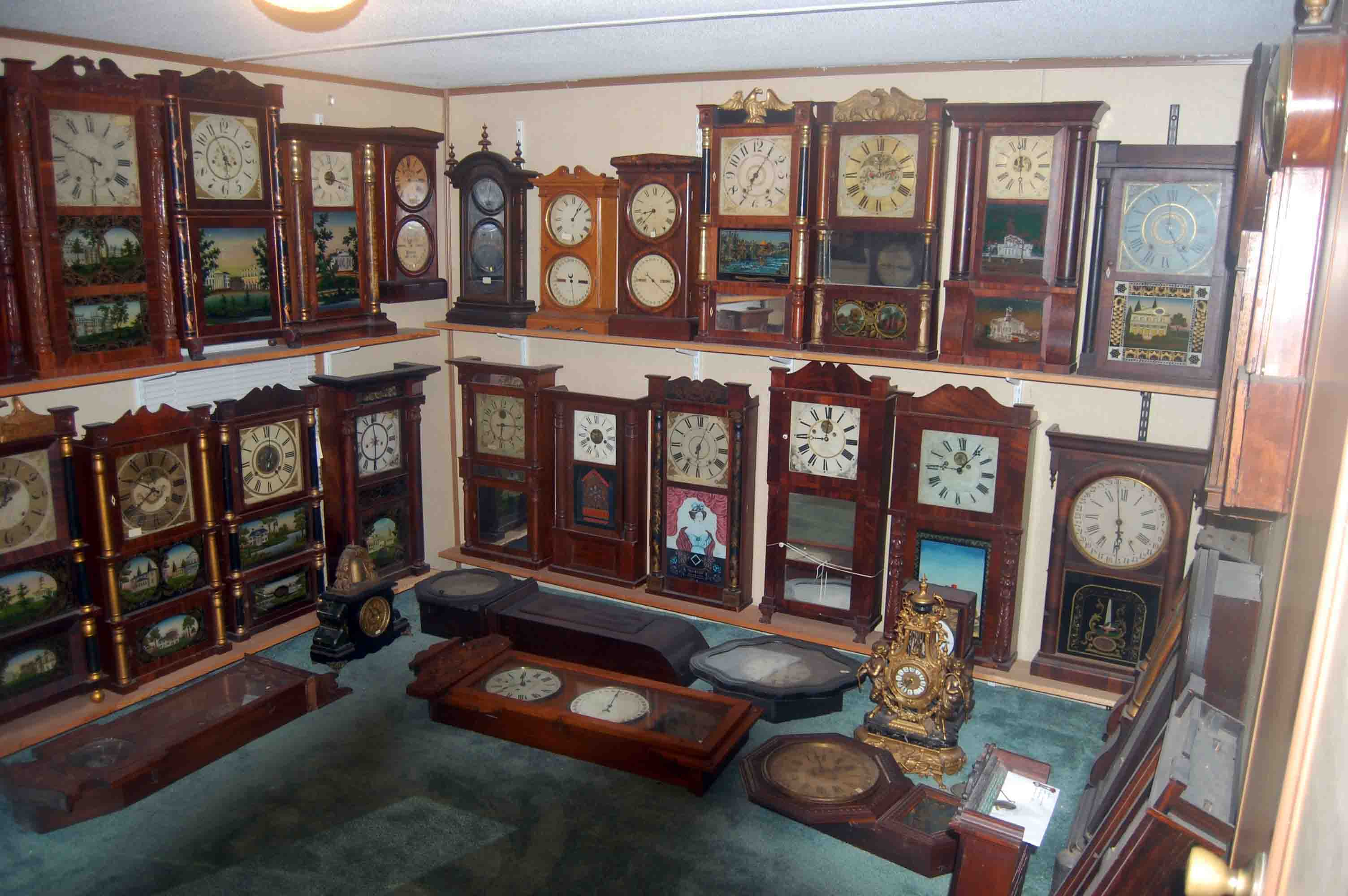 Mackeys antique clock repair repairing antique modern clock clock repair special for 9500 plus parts if any are needed we will overhaul most time strike wall or mantel antique or modern pendulum clock amipublicfo Choice Image