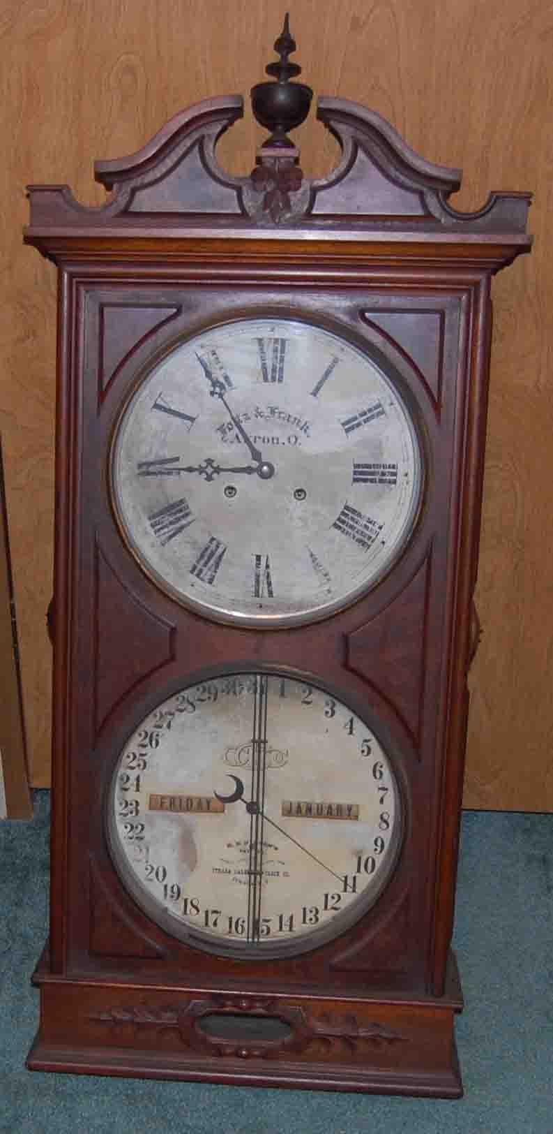 antique calendar clocks - mackey's clock repair parkersburg wv